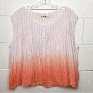 Free People Little Bit Of Something Pink Ombré Top